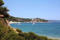 взгляд spartines пляжа alonissos Стоковое Изображение