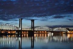 взгляд st petersburg ночи Стоковое Изображение RF