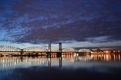взгляд st petersburg ночи Стоковое фото RF