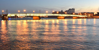 взгляд st petersburg ночи Стоковые Изображения RF
