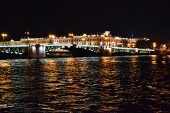 взгляд st petersburg ночи Стоковая Фотография