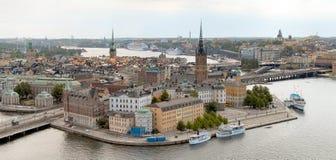 взгляд stockholm стоковое изображение rf