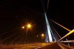 взгляд stonecutters ночи моста Стоковая Фотография RF