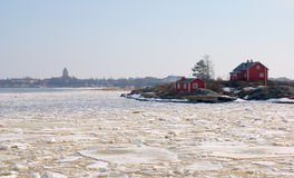 взгляд suomenlinna Финляндии helsinki стоковая фотография rf