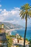 взгляд taormina Сицилии Стоковое Фото