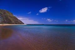 взгляд tenerife пляжа Стоковое Изображение