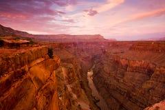 взгляд toroweap каньона грандиозный Стоковые Изображения