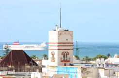 взгляд torre tavira собора cadiz Стоковые Фотографии RF