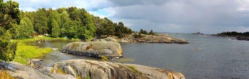 взгляд uto Швеции панорамы острова Стоковое Изображение RF
