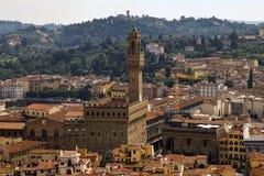 взгляд vecchio palazzo florence Стоковое Изображение RF