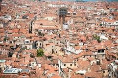 взгляд venice башни san крыш marco красный Стоковое Изображение RF