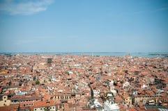 взгляд venice башни san крыш marco красный Стоковое фото RF