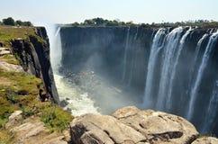 Взгляд Victoria Falls панорамный, Zimbawe стоковые изображения