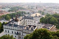 взгляд vilnius городка Литвы старый Стоковая Фотография