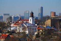 взгляд vilnius Литвы панорамный стоковое фото rf