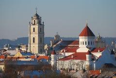 взгляд vilnius Литвы панорамный стоковые изображения
