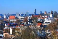 взгляд vilnius Литвы панорамный стоковое изображение