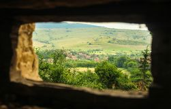Взгляд Viscri, Румынии стоковые фото