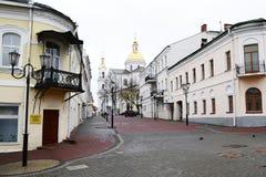 взгляд vitebsk улицы стоковые изображения
