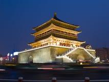 взгляд xian башни ночи колокола Стоковые Изображения