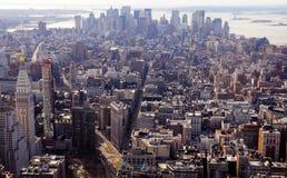 взгляд york небоскребов manhattan новый Стоковые Фотографии RF