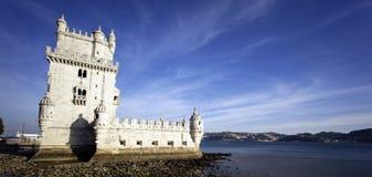 взгляд башни belem панорамный Стоковые Изображения