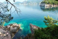 Взгляд береговой линии утра (Черногори) Стоковые Фотографии RF