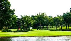 взгляд гольфа курса Стоковое Изображение