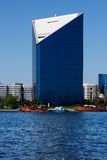 Взгляд горизонта небоскребов заводи Дубай, UAE Стоковое Изображение