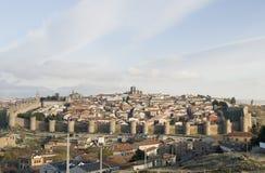 взгляд Испании города avila полный Стоковые Фотографии RF