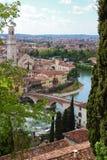 взгляд Италии панорамный verona Стоковые Изображения RF