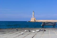 взгляд маяка chania venetian Стоковое Изображение