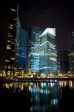 взгляд ночи города Стоковая Фотография