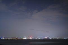 взгляд ночи города Стоковое фото RF