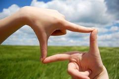 взгляд руки индукторной станина Стоковые Фото