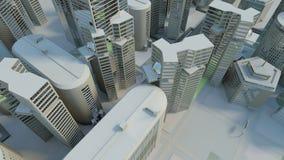 взгляд сверху города предпосылки холодный Стоковое фото RF
