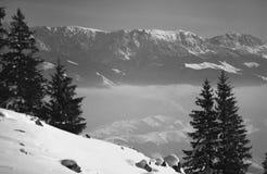 взгляд сверху горы Стоковое Изображение