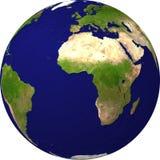 взгляд спутника глобуса Стоковая Фотография RF
