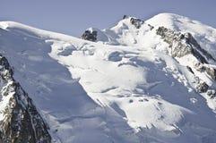 взгляды mont blanc Стоковые Фотографии RF