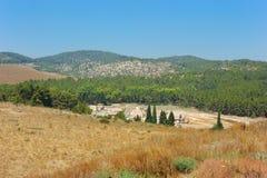 взгляд долины Израиля carmel Стоковое фото RF