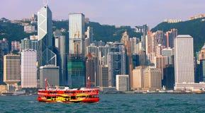 взгляд Hong Kong гавани Стоковое Изображение RF