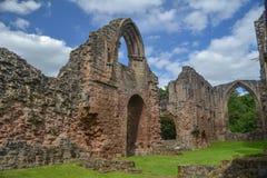 Взгляд аббатства Lilleshall - Шропшира Стоковое Изображение