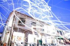 Взгляд абстрактного света на здании Стоковые Фотографии RF