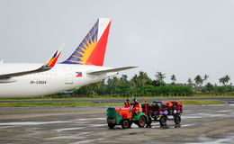Взгляд авиапорта в Kalibo, Филиппинах Стоковые Фото