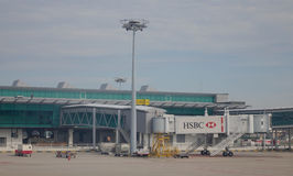 Взгляд авиапорта Changi в Сингапуре Стоковые Фотографии RF
