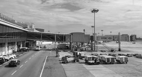 Взгляд авиапорта Changi в Сингапуре Стоковое Изображение RF