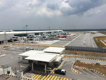 Взгляд авиапорта KLIA 2 в Куалае-Лумпур, Малайзии Стоковая Фотография