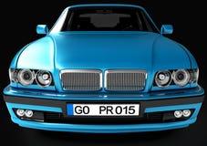 Взгляд автомобиля в фронте иллюстрация 3d Стоковые Изображения RF