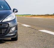 Взгляд автомобиля от фронта Стоковые Изображения RF