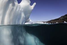 Взгляд айсберга подводный Стоковое Изображение RF